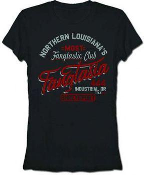 True Blood Northern Louisiana's Fangtastic Fangtasia Black Juniors T-Shirt