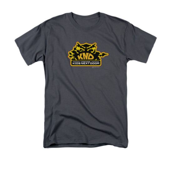 Codename Kids Next Door Shirt KND Logo Adult Charcoal Tee T-Shirt