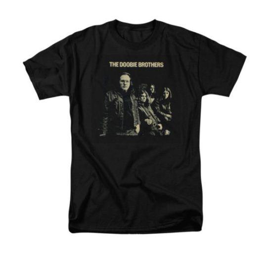 Doobie Brothers Shirt Black And White Photo Black T-Shirt
