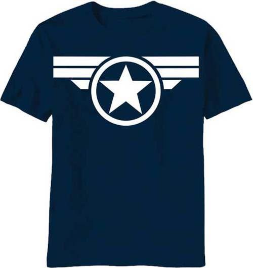 Captain America Good Ol' Steve Navy Adult T-shirt