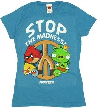 Angry Birds Stop the Madness Baby Doll Tee