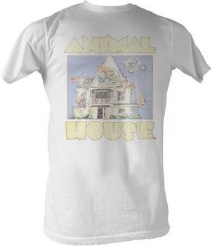 Animal House Distressed Cartoon Adult White T-shirt