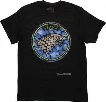 Game of Thrones Stark Stained Glass Direwolf Sigil T-Shirt Sheer