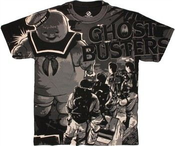Ghostbusters Last Stand vs Stay Puft T-Shirt