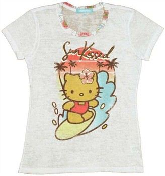 Hello Kitty Sun Kissed Burnout Baby Doll Tee by MIGHTY FINE