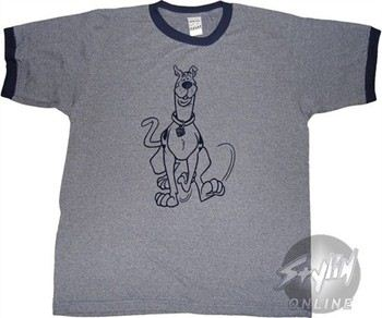 Scooby Doo Walking Gray T-Shirt