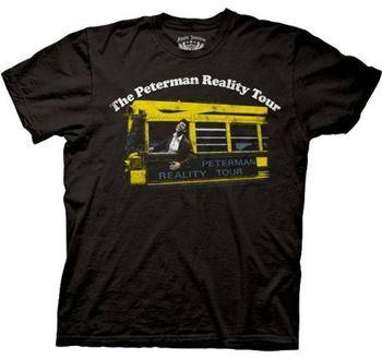 Seinfeld Peterman Reality Tour Black Adult T-shirt