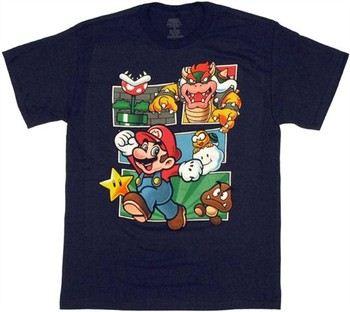 Nintendo Super Mario Bowser Collage T-Shirt