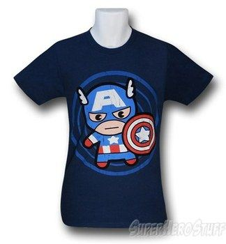 Captain America Toy In Circle 30 Single T-Shirt