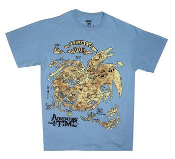 Ooo Map - Adventure Time T-shirt