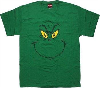Dr Seuss Grinch Big Face T-Shirt