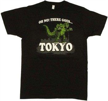 Godzilla Oh No There Goes Tokyo T-Shirt Sheer