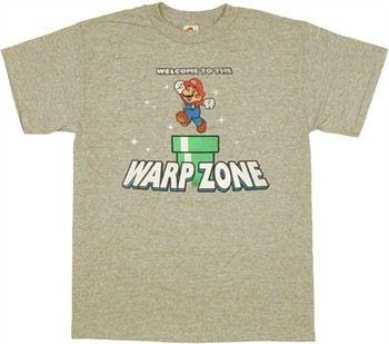 Nintendo Super Mario Welcome to the Warp Zone T-Shirt