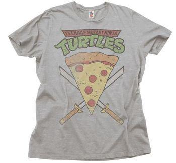 Junk Food TMNT Teenage Mutant Ninja Turtles Pizza Slice Adult T-Shirt