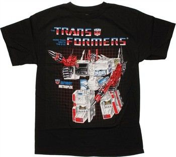 Transformers Metroplex G1 Box Art T-Shirt
