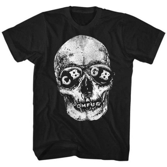 CBGB Shirt Skull Eyes Black T-Shirt