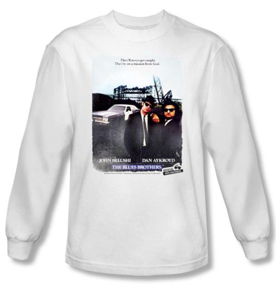 The Blues Brothers T-shirt Distressed Poster White Long Sleeve Tee