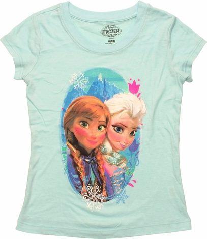 Frozen Anna Elsa Oval Juvenile T Shirt