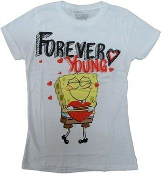 Spongebob Squarepants Forever Young Baby Doll Tee