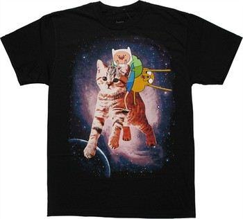Adventure Time Cat Ride T-Shirt