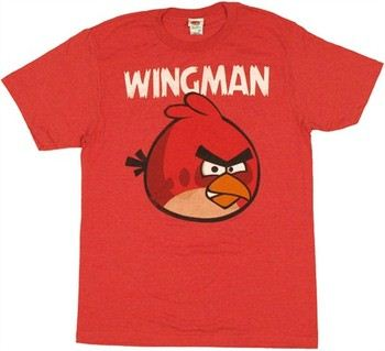 Angry Birds Wingman Red Bird T-Shirt Sheer