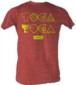 Animal House T-shirt Movie Toga Toga Adult Heather Salmon Tee Shirt