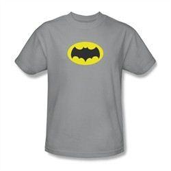 Classic Batman Shirt Logo Silver T-Shirt