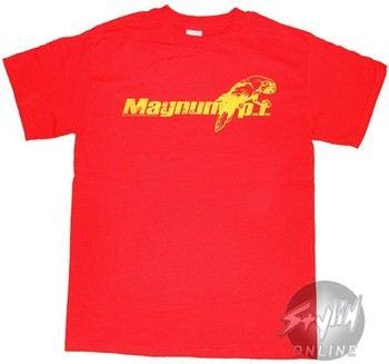 Magnum PI Name Red T-Shirt