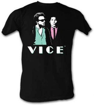 Miami Vice Sunglasses At Night Black Adult T-shirt