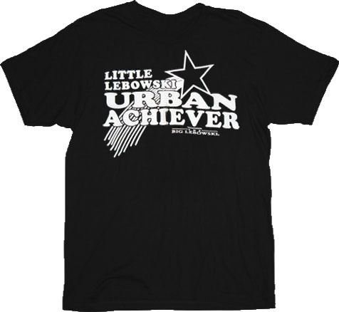 The Big Lebowski Urban Achiever Black T-Shirt
