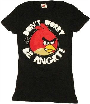 Angry Birds Don't Worry Be Angry Baby Doll Tee