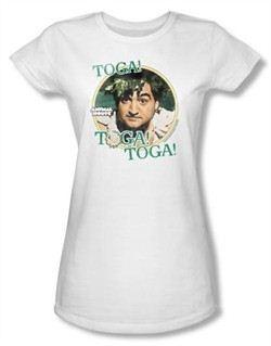 Animal House Juniors T-shirt Movie Bluto Toga White Tee Shirt