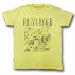 Flash Gordon Shirt Fully Loaded Adult Yellow Tee T-Shirt