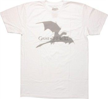Game of Thrones Dragon Shadow Logo T-Shirt Sheer