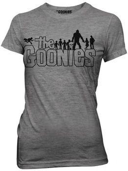 The Goonies Retro Movie Outline Logo Ash Grey Juniors T-shirt