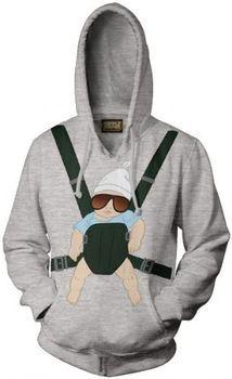 The Hangover Baby Carrier Alan Gray Hooded Sweatshirt Hoodie