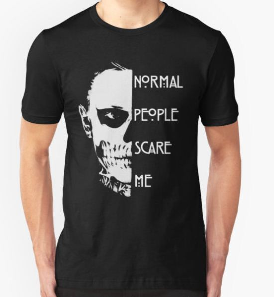 Normal People Scare Me T-Shirt by Pink Blood T-Shirt