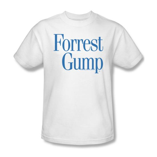 Forrest Gump Shirt Logo Adult White Tee T-Shirt