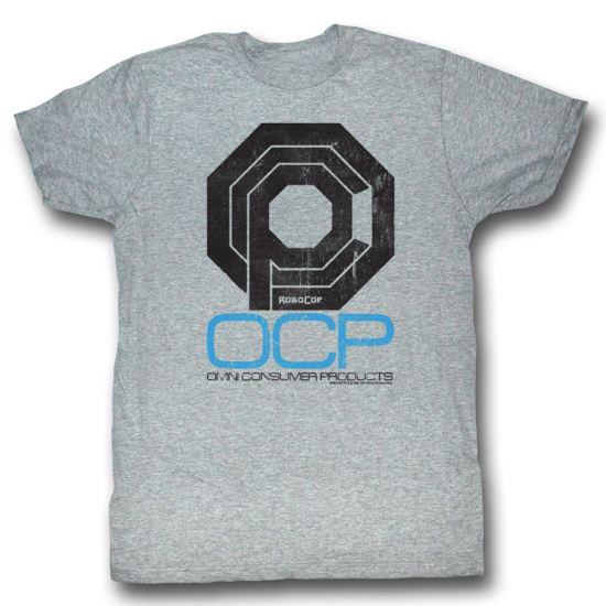 Robocop Shirt Omni Consumer Adult Heather Grey Tee T-Shirt
