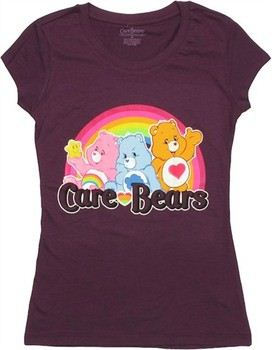 Care Bears Rainbow Trio Cheer Grumpy Tenderheart Baby Doll Tee