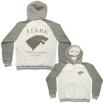 Game of Thrones Stark Sigil Winter is Coming Full Zipper Hooded Sweatshirt
