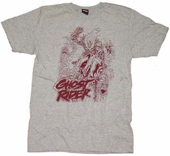 Ghost Rider Bike Gray T-Shirt Sheer