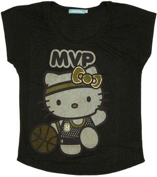 Hello Kitty Basketball MVP Ladies Tee by MIGHTY FINE