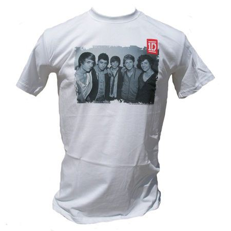 One Direction: One Direction Group Photo White T-Shirt
