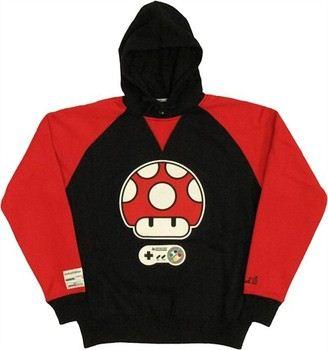 Nintendo Super Mario World Super Mushroom Limited Edition Torrel Pullover Hooded Sweatshirt
