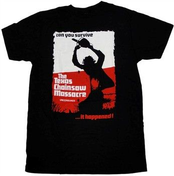 Texas Chainsaw Massacre Uncensored Can You Survive T-Shirt Sheer