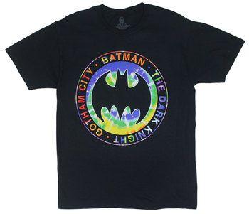 Batman Logo On Tie-Dye - DC Comics T-shirt
