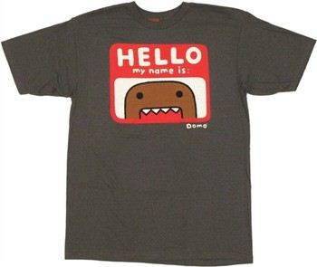 Domo-Kun Hello My Name Is T-Shirt