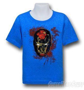 Iron Man Mask Paint Kids Red Decco T-Shirt