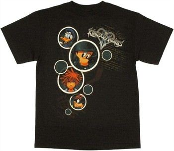 Kingdom Hearts Characters in Bubbles T-Shirt